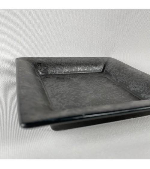 vide poche plateau courrier porcelaine véritable noir bleu blanc subtile home